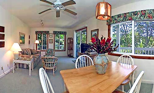 Banana Patch Living Room - Hale Kua Bed and Breakfast, Kauai, Hawaii